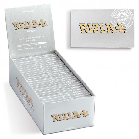 RIZLA CARTINE SILVER CORTE DOPPIE Box da 25