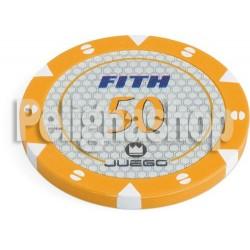 JUEGO FICHES TOURNAMENT Arancioni 14 gr Tubo da 100 pz
