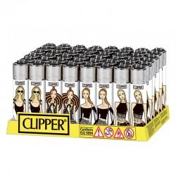 Clipper LARGE Fantasia SUMMER GIRLS H - Box da 48 Accendini