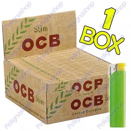 Cartine Ocb Organic Hemp King Size Slim Canapa Biologica Lunghe - Box da 50 Libretti