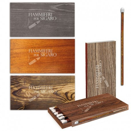 Fiammiferi per sigari Cigar Wood Fiammino - 1 Box da 24 scatoline