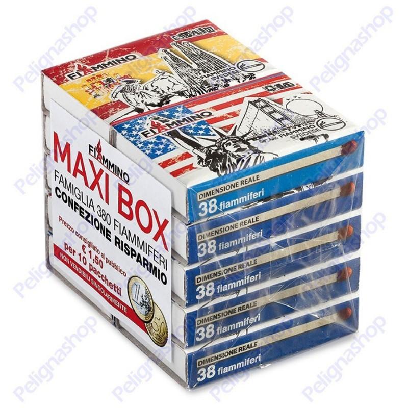 Fiammiferi Fiammino Famiglia 380 - 1 Box da 20 scatoline