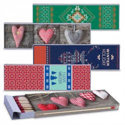 Fiammiferi Fiammino Caminetto Love Winter - Box da 12 scatoline