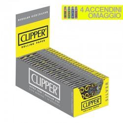 Cartine Clipper Argento Corte - Box da 50 Libretti