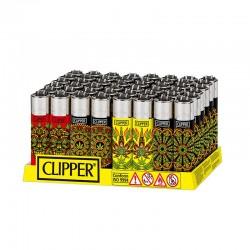Clipper LARGE Fantasia PSY WEED 2 K - Box da 48 Accendini