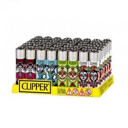 Clipper LARGE Fantasia CATRINAS 2 K - Box da 48 Accendini