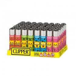 Clipper LARGE Fantasia EMOJI CAT K - Box da 48 Accendini