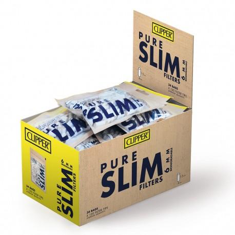 Clipper Pure Slim 6mm Biodegradabili - Box 34 Bustine da 120 Filtri