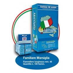 Fiammiferi Familiari Marsiglia - 1 Box da 50 scatoline da 100 fiammiferi
