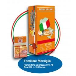 Fiammiferi Familiari Marsiglia Arancio - 1 Box da 50 scatoline da 100 fiammiferi
