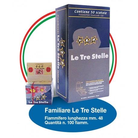 Fiammiferi Familiari Marsiglia Le Tre Stelle - 1 Box da 50 scatoline da 100 fiammiferi