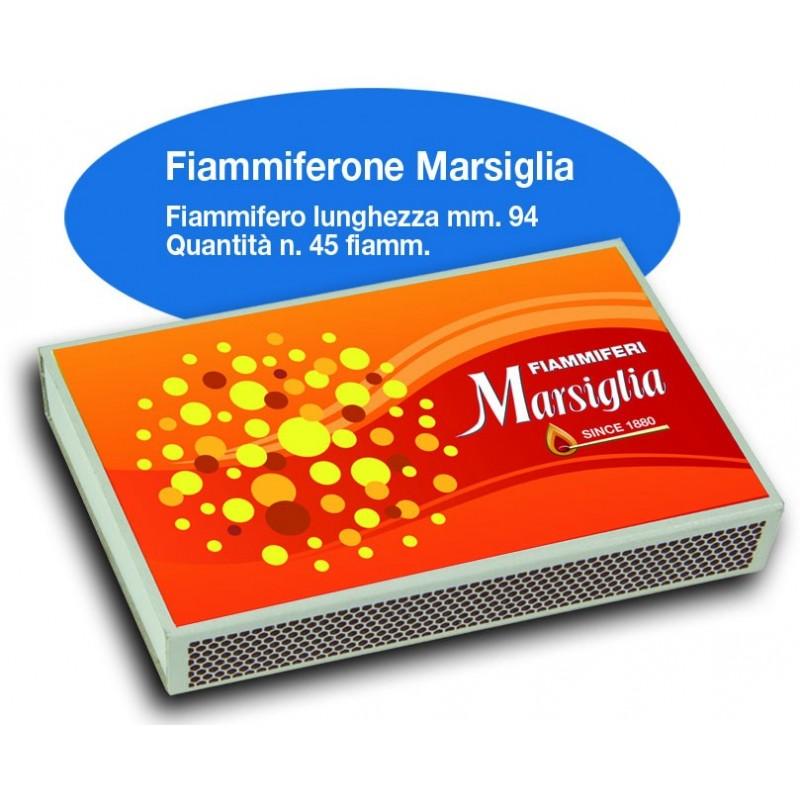 Fiammiferoni Marsiglia - 1 Box da 10 scatoline da 45