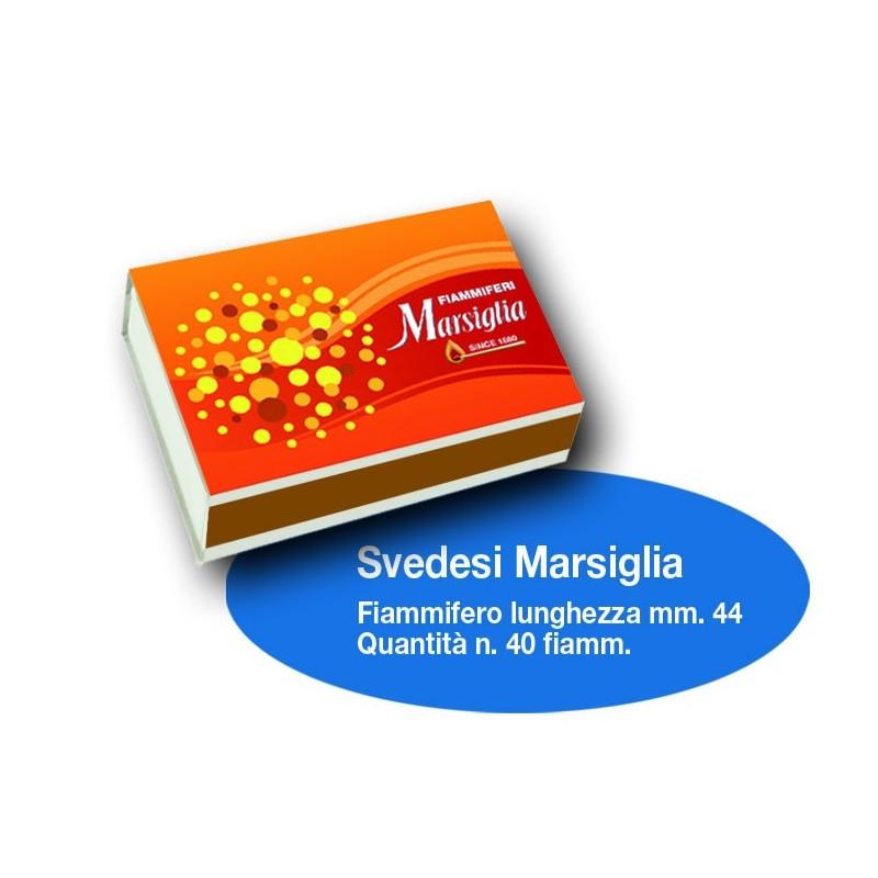 Fiammiferi Svedesi Marsiglia - 1 Box da 100 scatoline