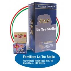 Fiammiferi Familiari Marsiglia Le Tre Stelle - 5 scatoline da 100 fiammiferi