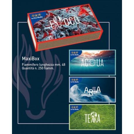 Fiammiferi Maxi Box Le Tre Stelle - 1 scatoline da 250