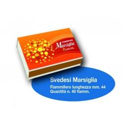 Fiammiferi Svedesi Marsiglia - 10 scatoline da 40 fiammiferi