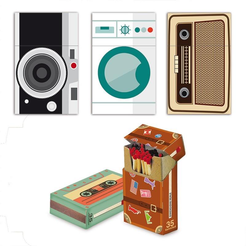 Fiammiferi Flip Top Old Style Fiammino - 1 Box da 50 scatoline