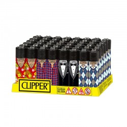 Clipper LARGE Fantasia DRESS CODE I - Box da 48 Accendini