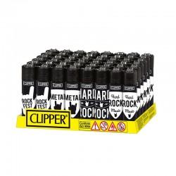 Clipper LARGE Fantasia ROCKFEST I - Box da 48 Accendini