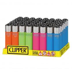 Clipper LARGE Fantasia SOFT TOUCH FLUO - Box da 48 Accendini