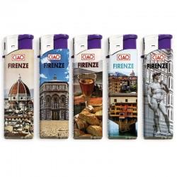 Ciao Piezo Large Firenze - Box da 50 Accendini