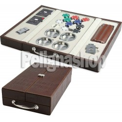 JUEGO Valigetta ecopelle MULTI SET MIAMI BROWN