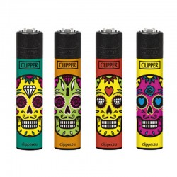 Clipper Large SKULL MIX L Serie 2 - 4 Accendini sfusi