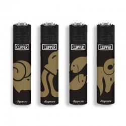 Clipper Micro BLACK HOROSCOPE G Serie 1 - 4 Accendini sfusi