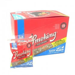 Smoking Filtri Slim 6mm con Cartina Orange - Box da 30 Bustine