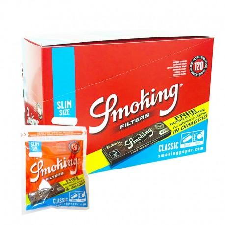 Smoking Filtri Slim 6mm con Cartina Brown - Box da 30 Bustine