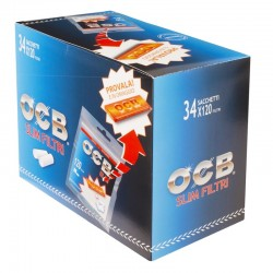 OCB Slim 6mm con Cartine Orange Corte - Box da 30 Bustine da 120 Filtri