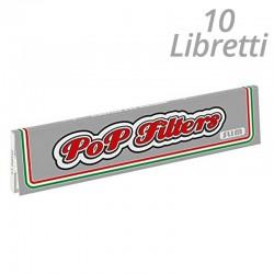 Cartine Pop Filters King Size Slim SIlver Line Lunghe - 10 Libretti