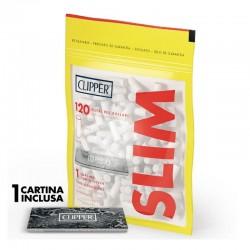 Clipper Slim 6mm Lisci - 2 Bustine da 120 Filtri + 50 Cartine Corte