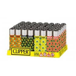 Clipper LARGE Fantasia LOL LEAVES - Box da 48 Accendini