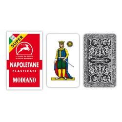 Carte da gioco Napoletante MODIANO Rosso plasticate extra
