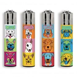 4 Accendini Clipper Large COMBO CATS&DOGS serie 2