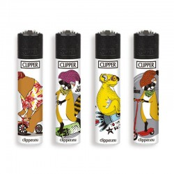 4 Accendini Clipper Micro FUN ANIMALS serie 1