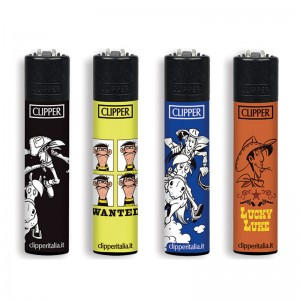 4 Accendini Clipper Large LUCKY LUKE serie 1