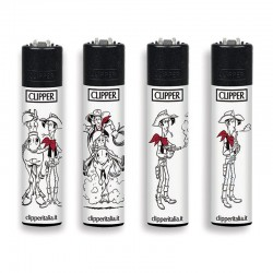 4 Accendini Clipper Large LUCKY LUKE serie 2