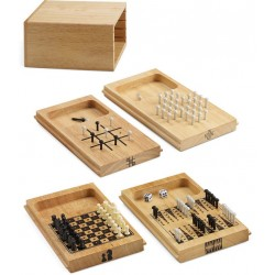 Game Set 4 in 1 Scacchi Tris Backgammon Solitario
