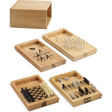 Game Set 4 in 1 Scacchi Tris Backgammon Solitario