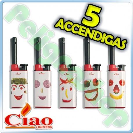 5 Accendigas CIAO piezo CUCINA fiamma regolabile