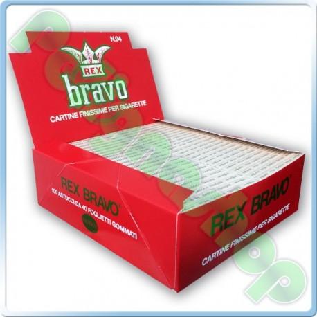 cartine bravo rex  Cartine Bravo Rex Corte Finissime - Box da 100 libretti