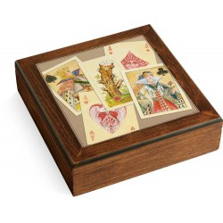 Scatola in legno Poker set Royale Navarra carte fiches