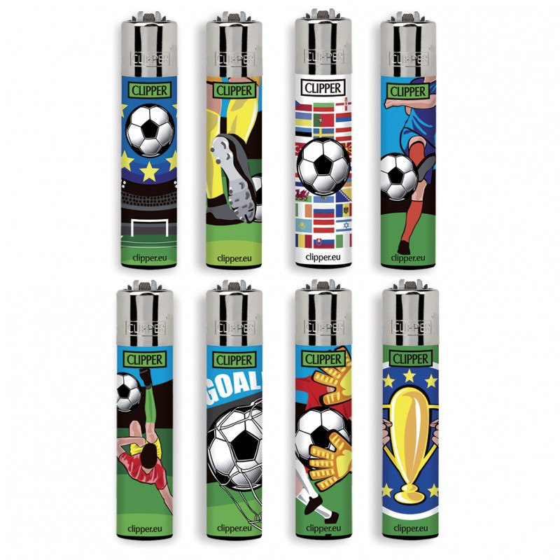 8 Accendini Clipper Large FOOTBALL CUP