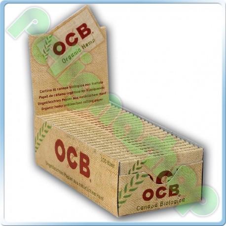 CARTINE OCB ORGANIC HEMP CORTE DOPPIE CANAPA BIOLOGICA - BOX DA 50 LIBRETTI
