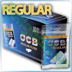 OCB REGULAR 7,5MM - BOX 30 BUSTINE DA 100 FILTRI