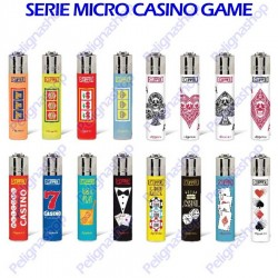 16 Accendini CLIPPER Micro serie Casinò Games