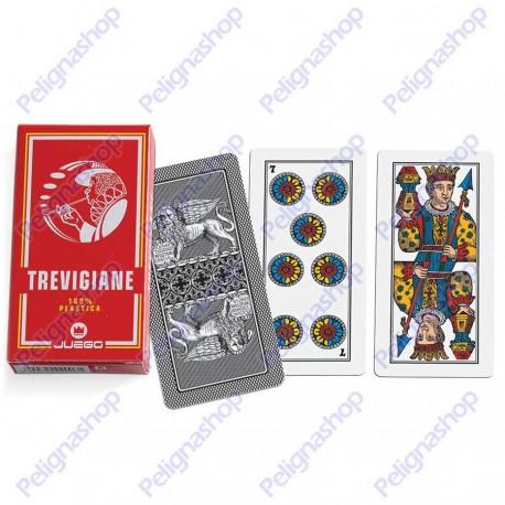 Mazzo di Carte da gioco Juego Trevigiane 100% plastica