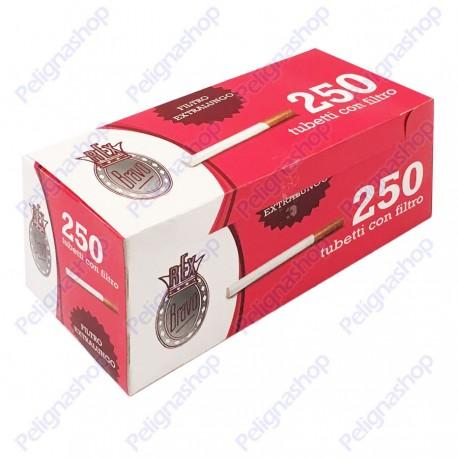 1000 tubetti BRAVO Rex King Size con filtro lungo SIGARETTE VUOTE 4 box